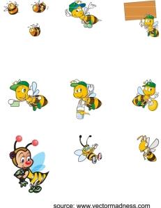 lebah madu vector corel draw