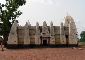 Larabanga-mosque, masjid di ghana afrika, masbadar.com