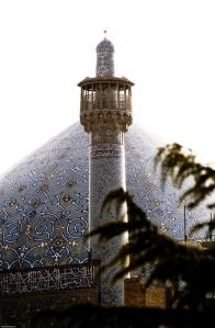 Iran-Isfahan-Naghsh-e-Jahan-Jame-Abbasi-Mosque, masjid di Iran, masbadar.com, menara masjid
