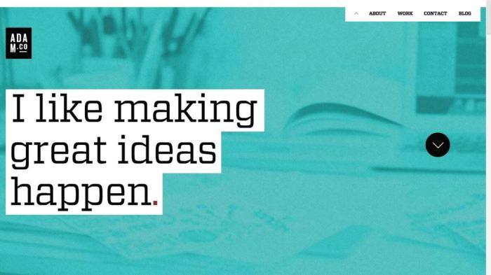 Desain Website Terbaik - Tercantik - Adam Co