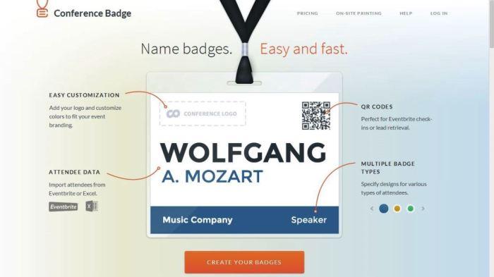 Desain Website Terbaik - Tercantik - Coference Badge