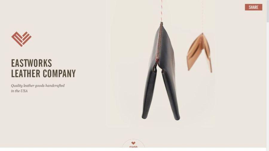 Desain Website Terbaik - Tercantik - East Works Leather