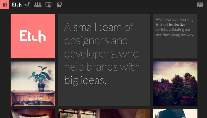 Desain Website Terbaik - Tercantik - Etch