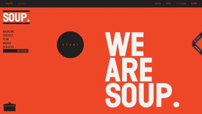 Desain Website Terbaik - Tercantik - Soup Agency