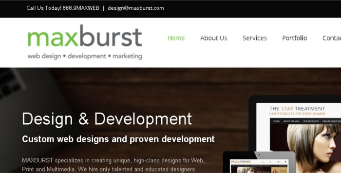 Developer Website Desain Responsive Terbaik - maxburst